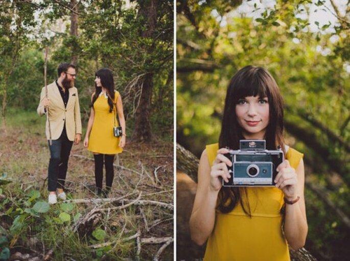 Fotos pre boda con estilo hipster - Foto Alyssa Schrock