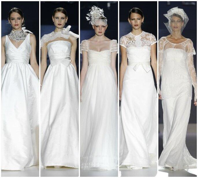 Modelos para soñar. Jesús Peiró 2013. Foto: Barcelona Bridal Week