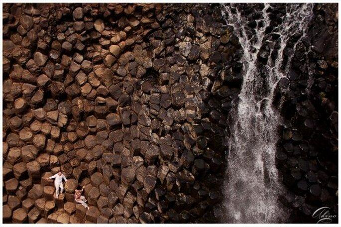 Sesion de fotos de preboda en los prismas basálticos de Hidalgo - Foto Emmanuel Aquino