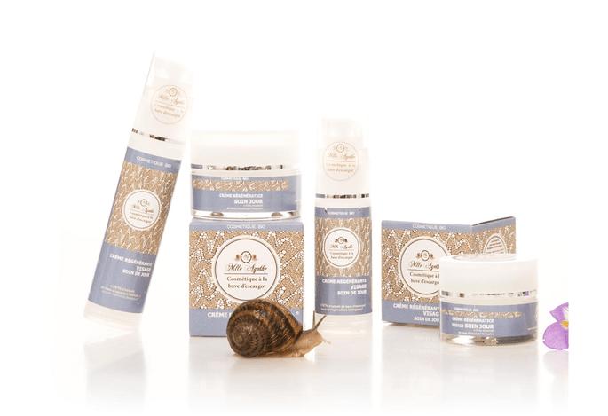 cosmétiques à la bave d'escargot