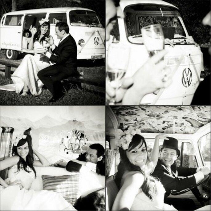 Pareja de recién casados en la Volkswagen Margharet, la más romántica de las Stars - Vintage Tours