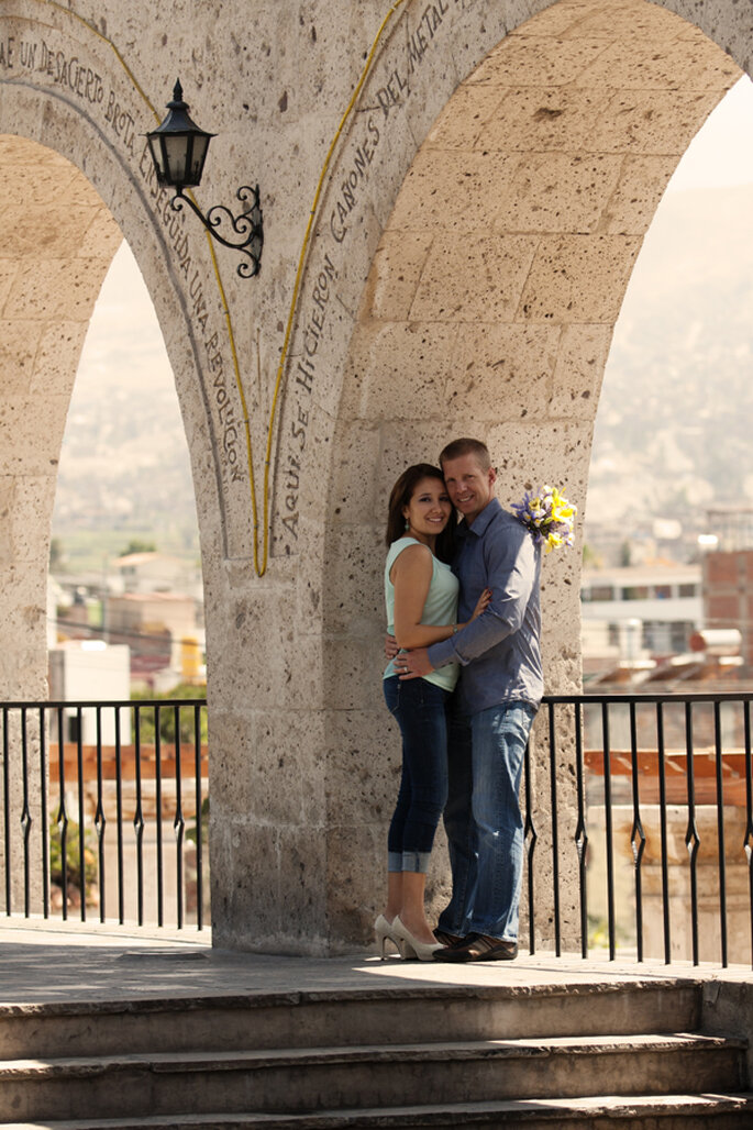 Sesión de fotos romántica en la maravillosa Arequipa, Perú. Foto: Daniel Pereda Photography