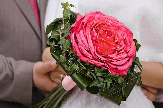 Ramo de novia rosmelia. Foto: Tu boda en Rosa