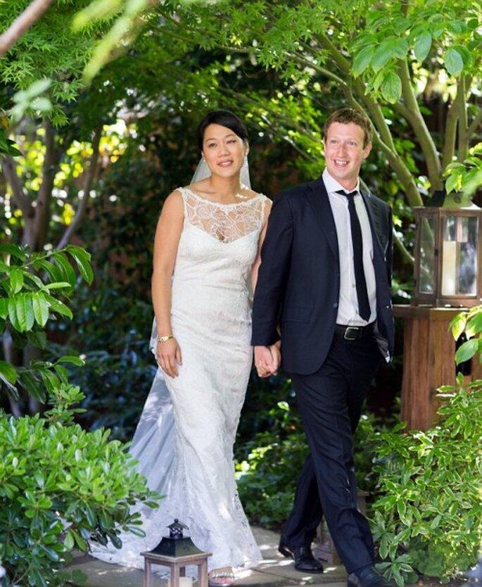 Mark Zuckerberg y Priscilla Chan recien casados - Foto Reuters