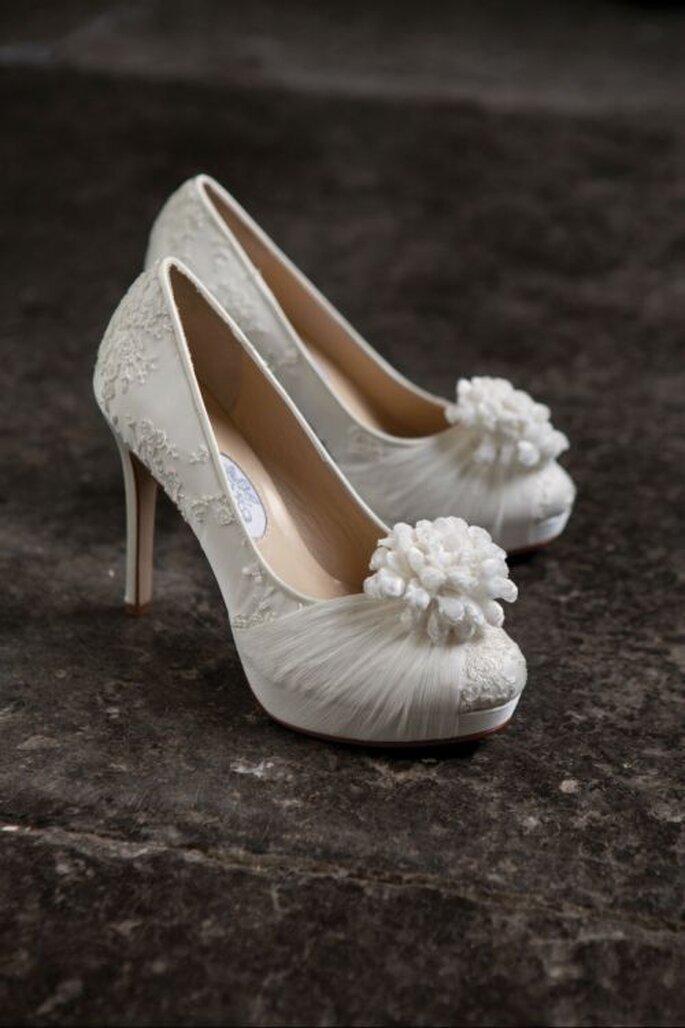 Tendencias en zapatos para novia 2014. Foto: Edelweiss Boutique