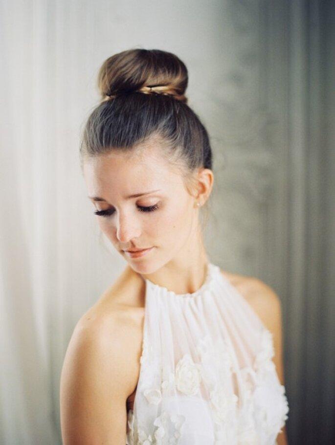 Peinados de novia para cada tipo de rostro - Foto Ciara Richardson