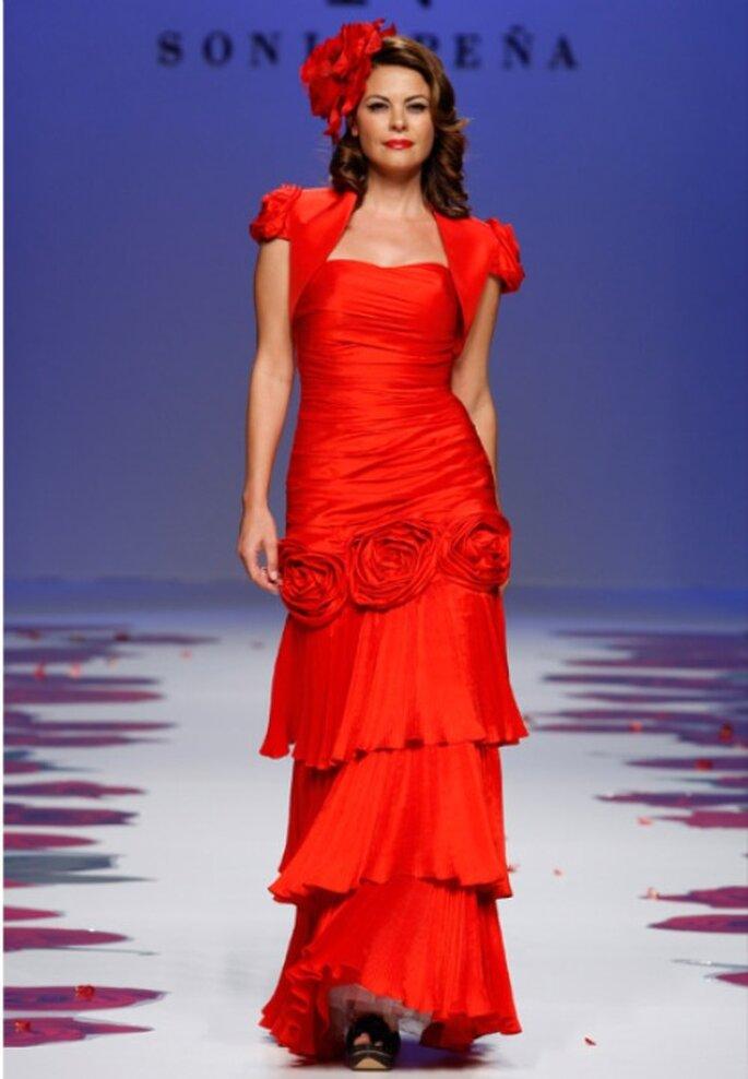 Rotes Kleid für die standesamtliche Trauung von Sonia Peña aus der Kollektion 2012