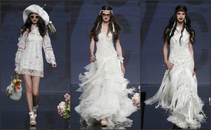 Mezcla de cortes en los vestidos de novia Yolan Cris 2012 - Ugo Camera / Barcelona Bridal Week