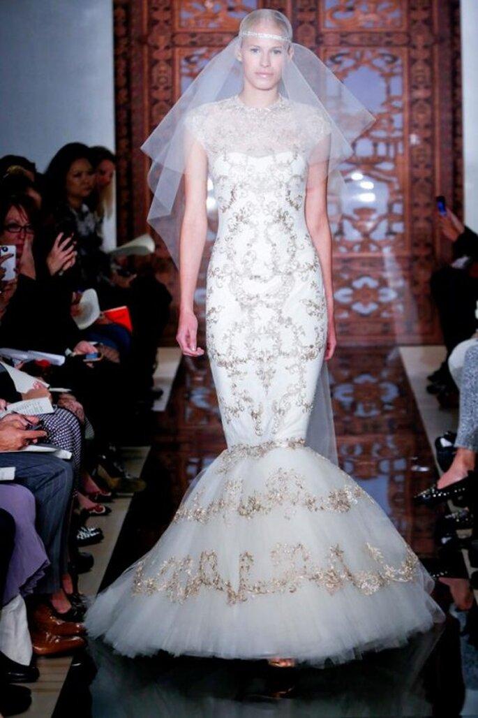 Tendencia corte sirena en vestidos de novia 2013 - Foto Zankyou MX