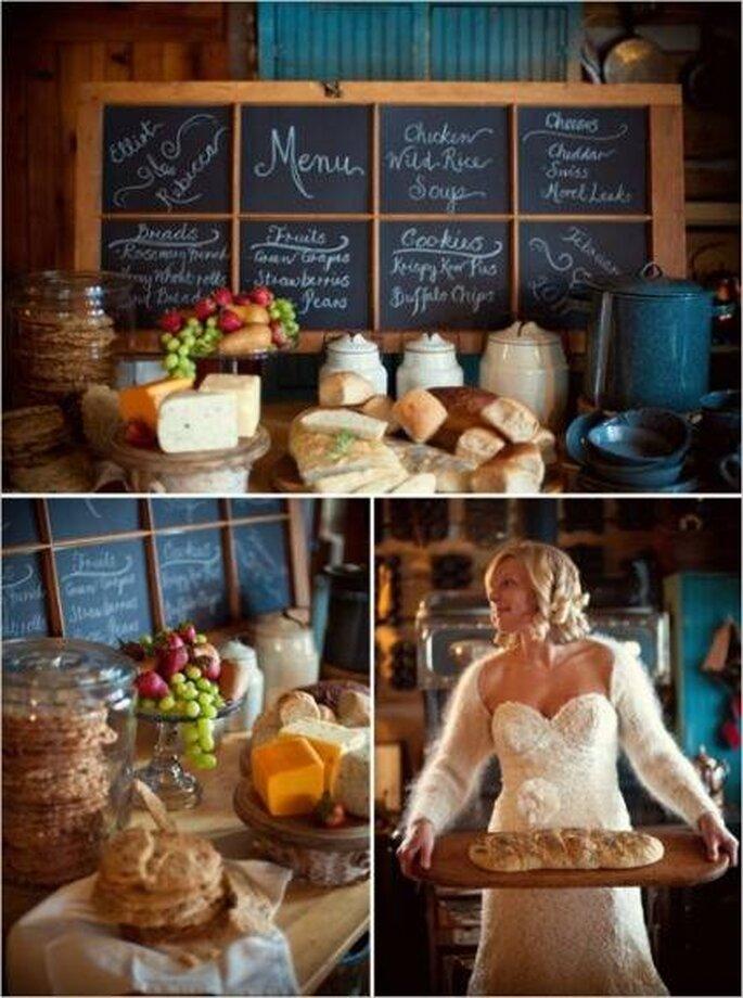 Desayuno para boda. Fotos: (C) Un mariage à Portobello.