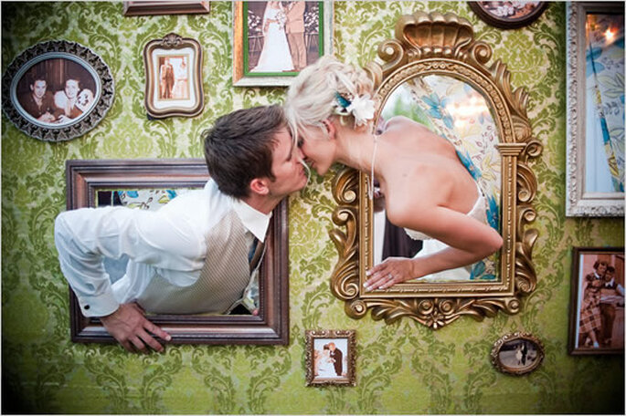 Besos de boda originales. Foto: Matt Shumate Photography