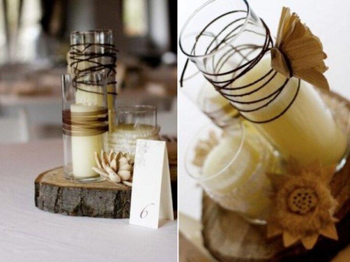 ręcznie robione dekoracje na wesele