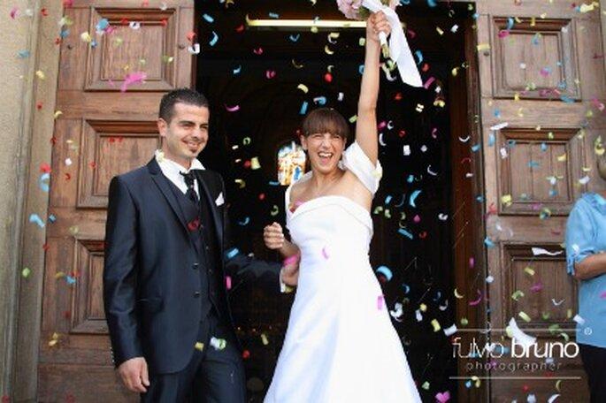 La gioia di Federica e del marito Alessandro dopo il sì! Foto di Fulvio Bruno