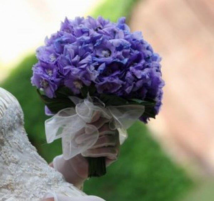 Bouquet lilla rotondo
