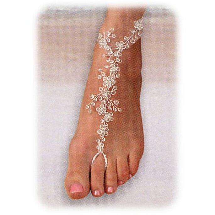 Joya para pie en forma de ramillete con cristales