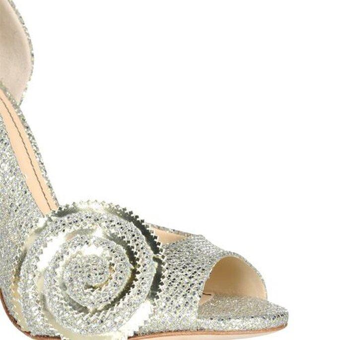 """Detalle de los zapatos de tacón para novia inspirados en """"Oz"""" - Foto Jerome C. Rousseau"""