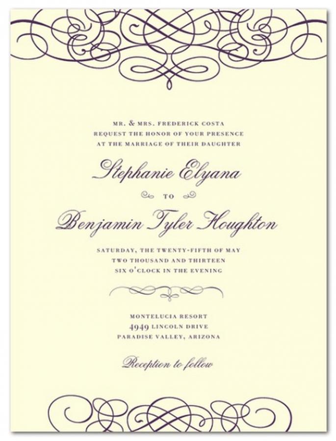 Elige pocos elementos visuales, pero que se complementen a la perfección - Foto Wedding Paper Divas