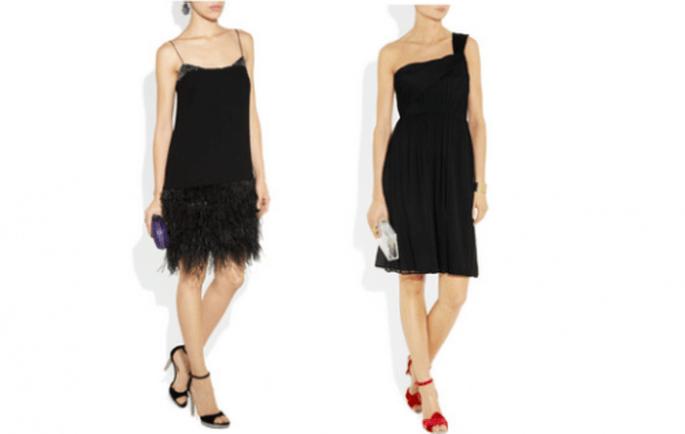 Forma de reciclar tu vestido negro para una boda durante el día - Foto Net a Porter