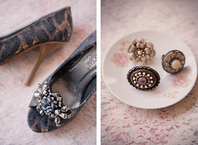 Zapatos y accesorios vintage para damas de honor - Foto: Ruche