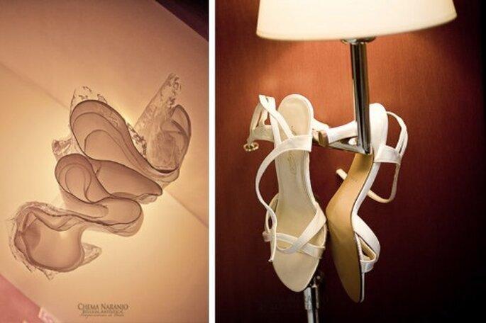Zapatos de novia. Foto de Chema Naranjo.