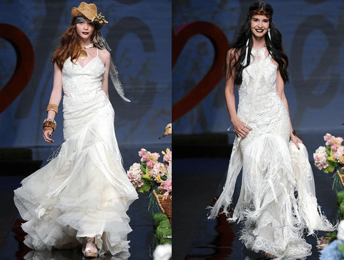Brautkleider im Hippie Look aus der Kollektion Yolan Cris 2012