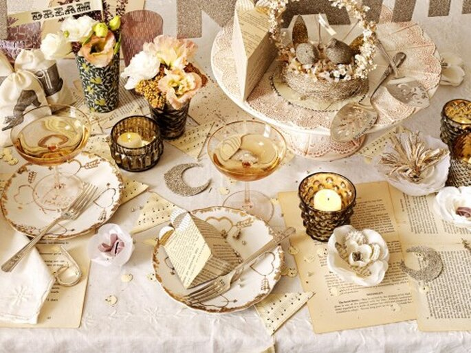 Weihnachten als Motto für die Hochzeit – ideal für Winterhochzeiten – Foto: bhldn