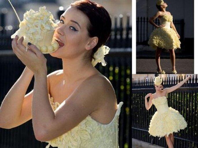 Vestidos de novia elaborados con chocolate