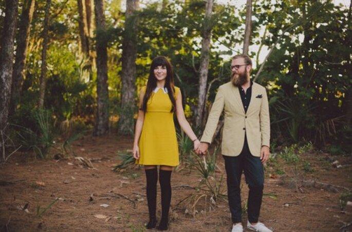 Sesión de fotos pre boda inspirada en Wes Anderson - Foto