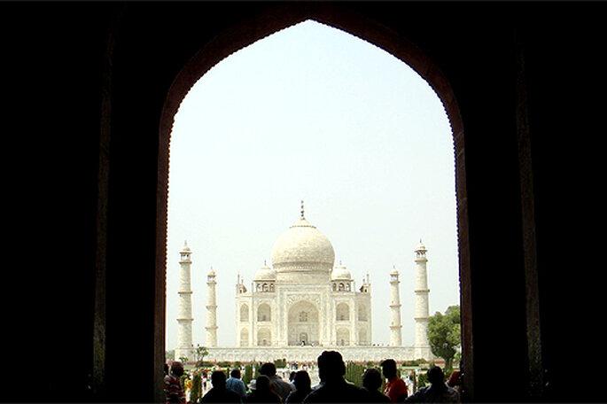 El Taj Mahal, en India, uno de los destinos más visitados por las parejas en luna de miel. Foto: Airknight