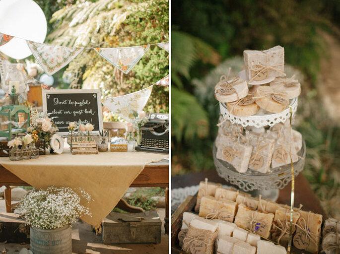 Real Wedding: Romance californiano, decoración preciosa y un toque vintage - Foto Love is a Big Deal