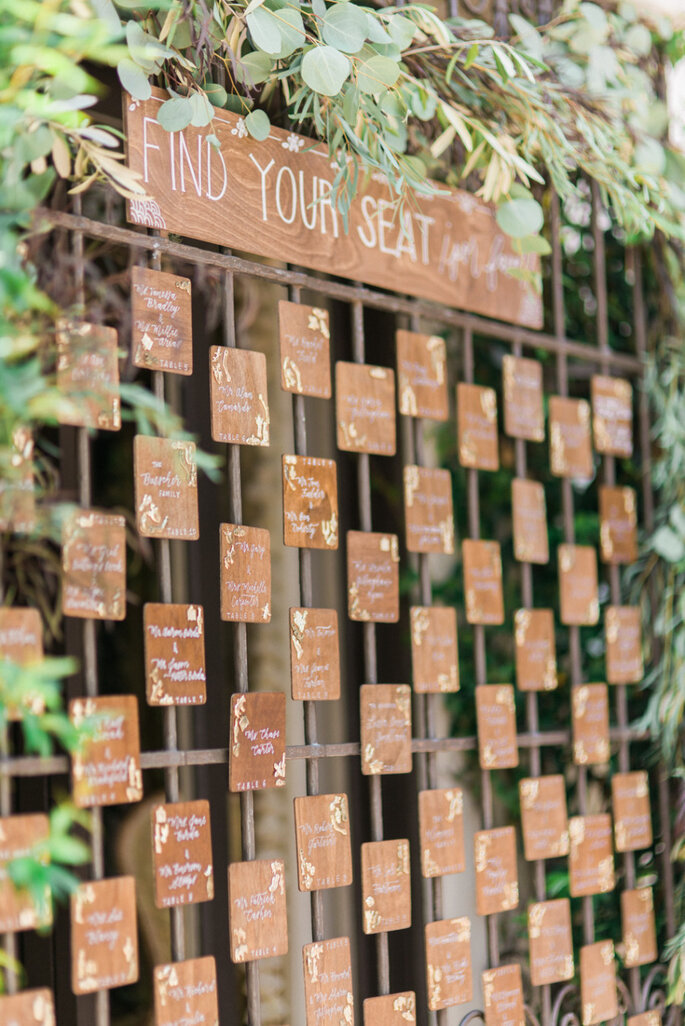 Ideas originales en seating charts - Honey Honey Photography