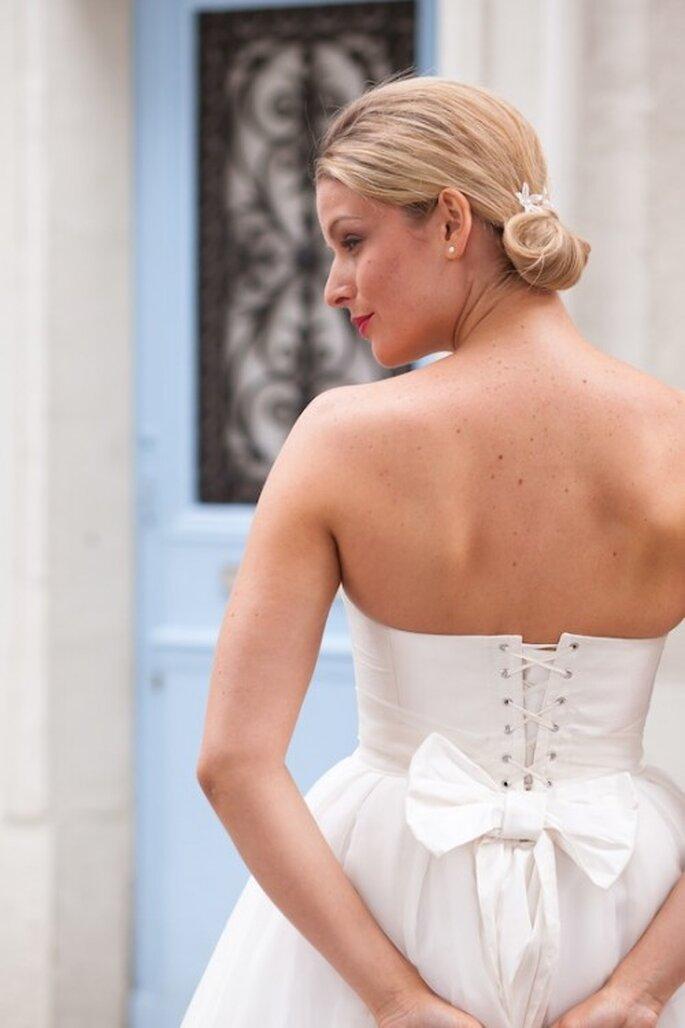 Robe de mariée Les Corsets d'Aëlle 2013, modèle Carleen - Photo : Florence Akouka - FleurdeSucre photographie