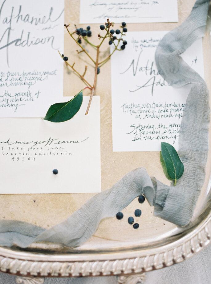 Boda decorada con colores azul y gris - Jake Anderson
