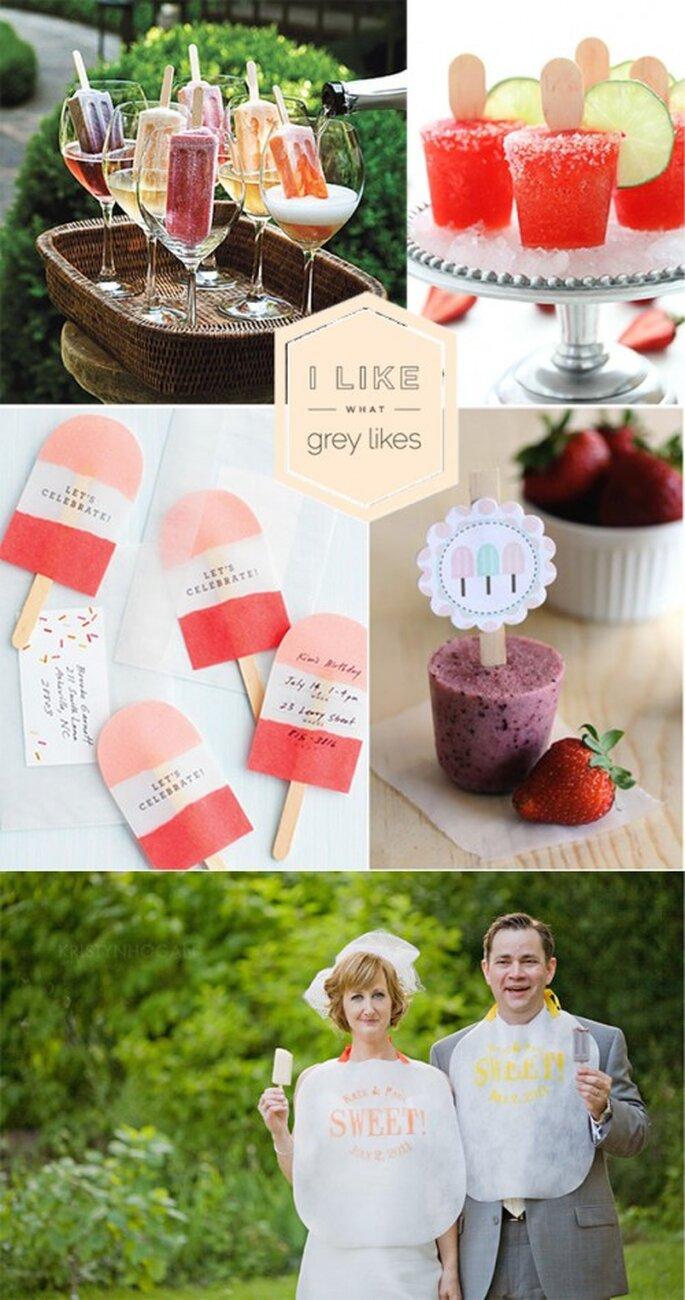 Paletas de hielo de postre en las bodas de 2013 - Foto Grey likes weddings