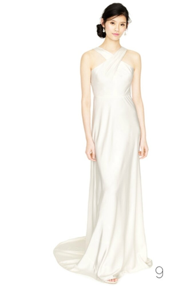 Vestido de novia estilo halter de satin - Foto: JCrew Wedding Collection 2012