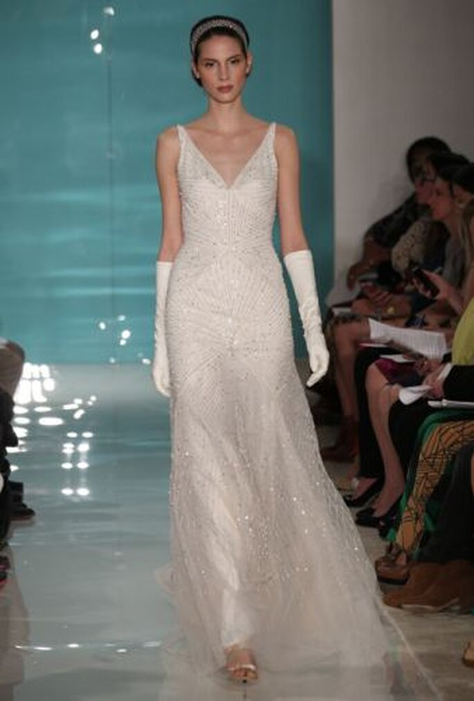 Reem Acra Spring 2013 wedding gown