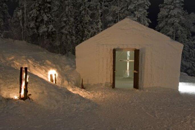 La cappella di neve a Ruka