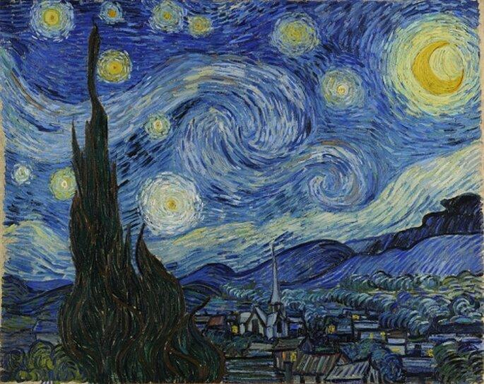 """""""Notte Stellata"""" dipinta da Vincent van Gogh nel 1889"""