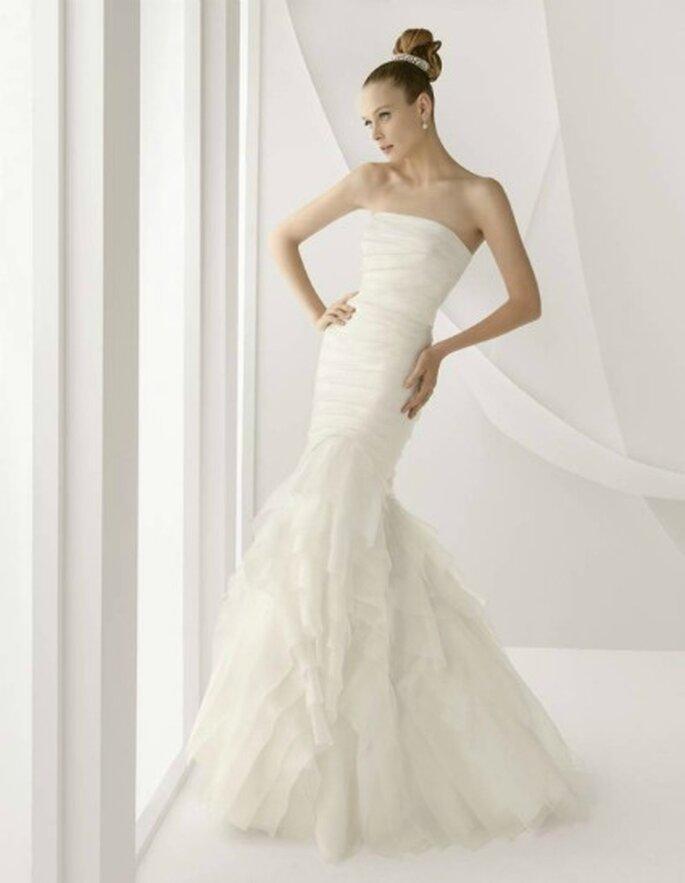 Vestido de novia Rosa Clará 2012, modelo ágora, que lució Carla Goyanes en la fiesta de su boda