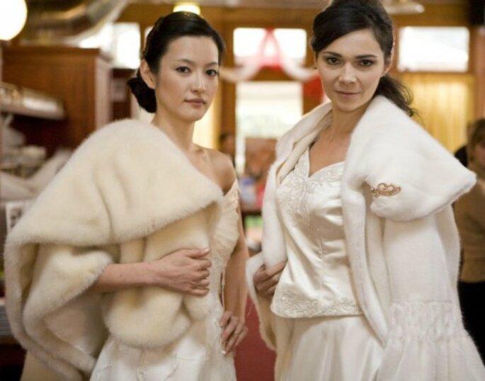Eco-pellicce: quando l'estetica sposa l'etica. Foto: Abiti sposa Milano