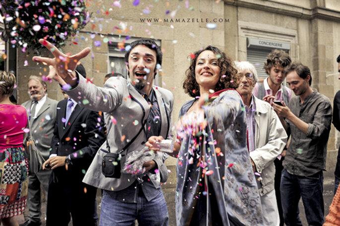 Confetti für die frisch Vermählten. - Foto: www.mamazelle.com