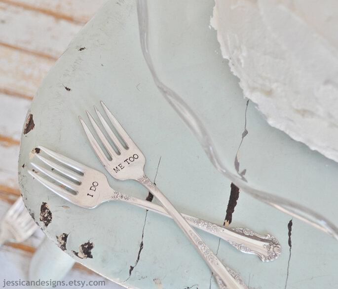 Azul polveado como color perfecto para el mobiliario de tu boda - Foto Jessicandesigns