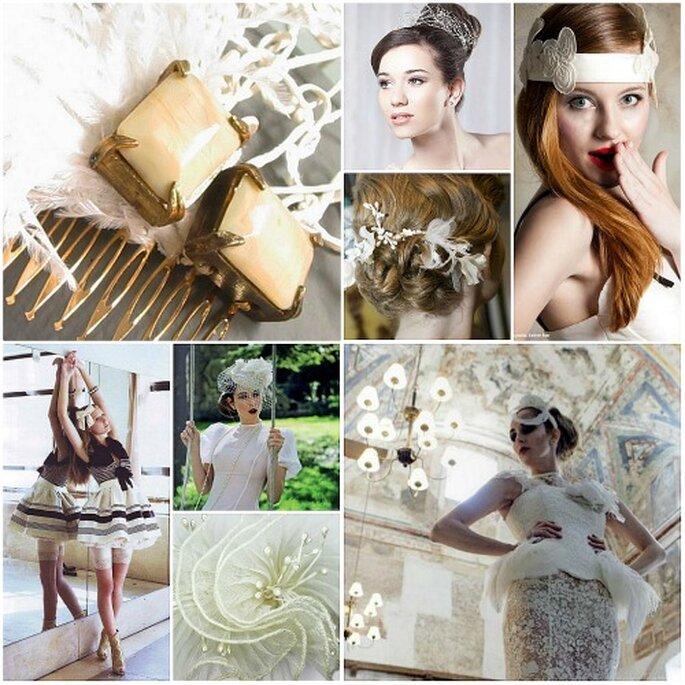 Editoriales de moda y lookbooks con tocados de novia, de Nila Taranco