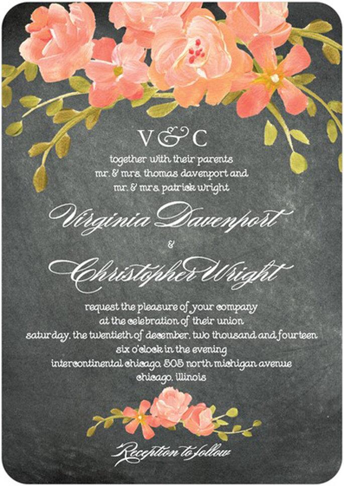 Invitaciones de boda estilo rústico de moda en 2013 - Foto Wedding Paper Divas