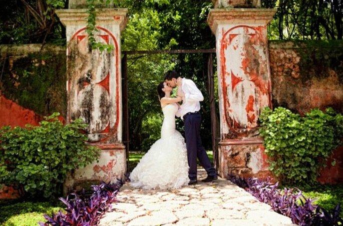 Fotografía de boda en Hacienda Itzincab Cámara. imagen Jaime González