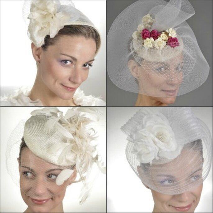 Tocados de novia de Vintage Wives Millinery