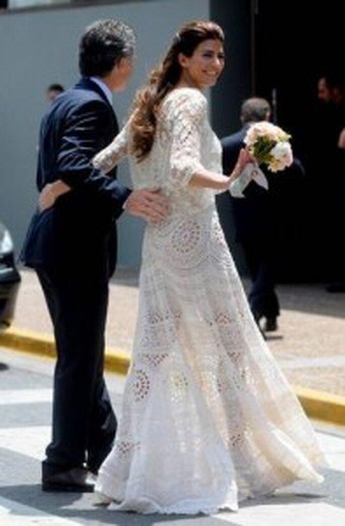 Vestido de novia de Juliana Awada boda civil