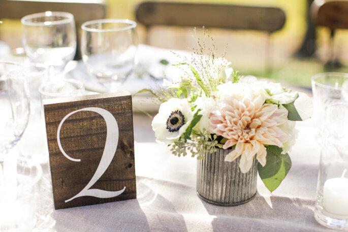 Numeración de mesas - Gia Canali