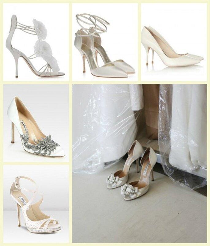 Zapatos de lujo para novia con detalles femeninos - Fotos Jimmy Choo, Manolo Blahnik, Giuseppe Zanotti, Sophia Webster y Oscar de la Renta