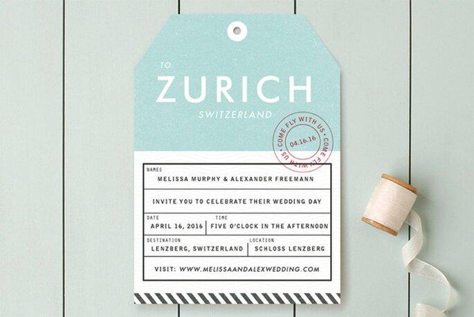 Diseños originales para que luzcan tus invitaciones de boda - Foto Minted